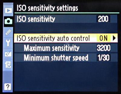 Auto ISO on Nikon