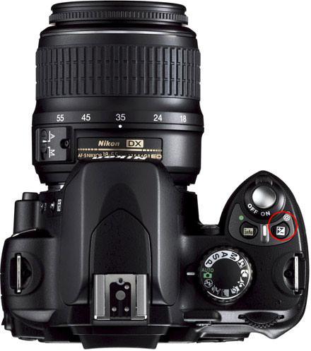 Nikon D40 Top