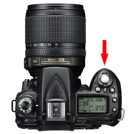 how to change aperture on nikon d80 and d90