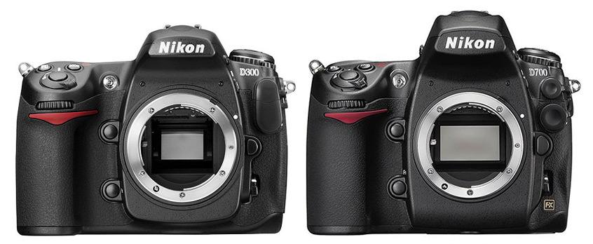 Nikon D300 vs D700