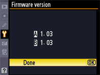 Nikon D300 Firmware Version