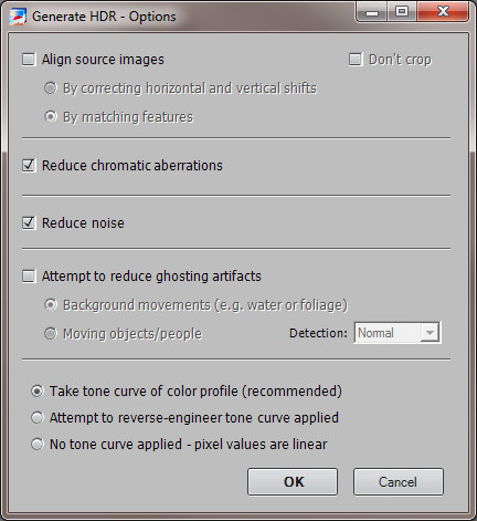 Photomatix Generate HDR