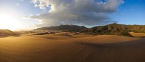 Sand Dunes Sunset Panorama