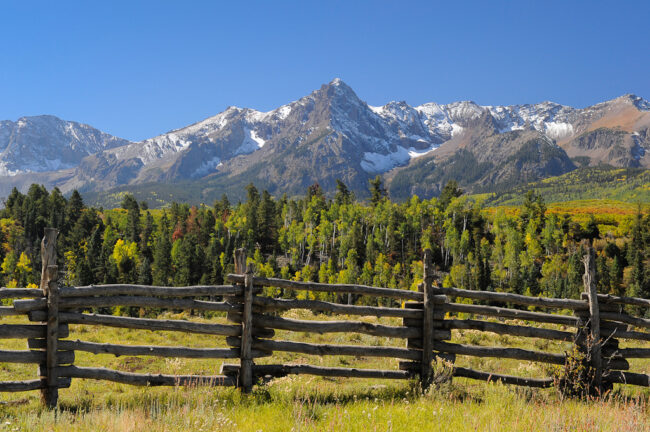 San Juan mountains with a fence #2