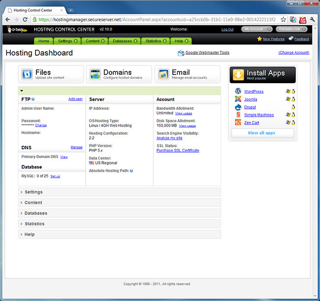 Hosting Dashboard