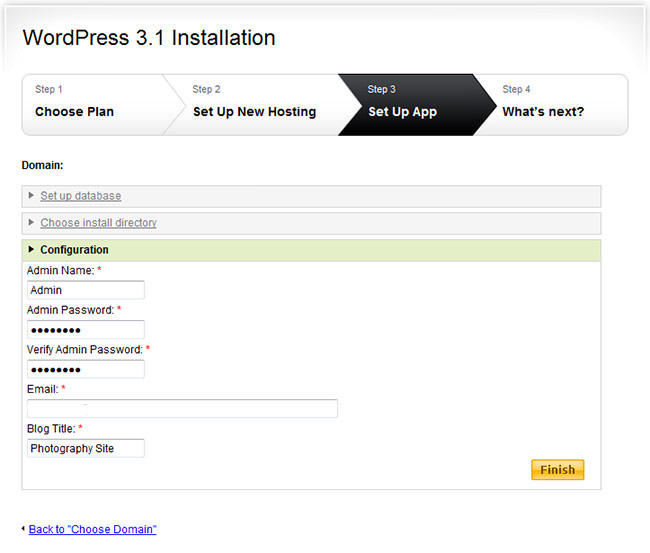 WordPress Easy Install 4