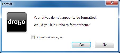 DroboPro - Format