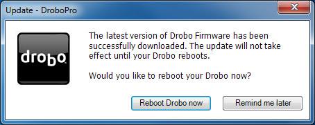 DroboPro - Reboot Drobo