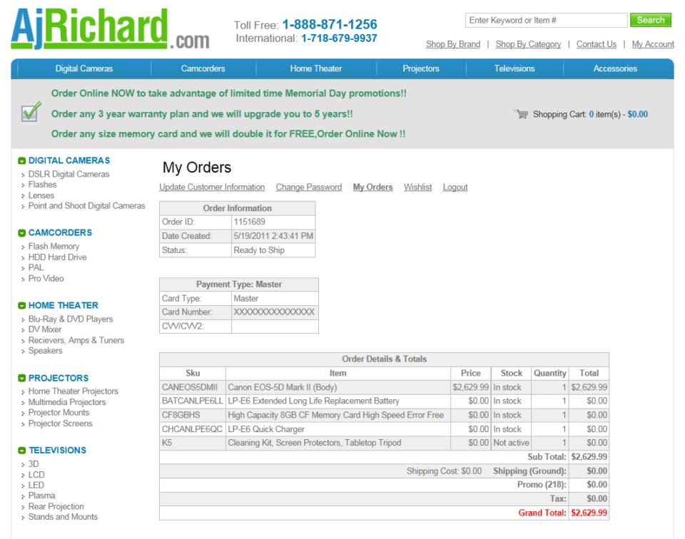 AjRichard Order