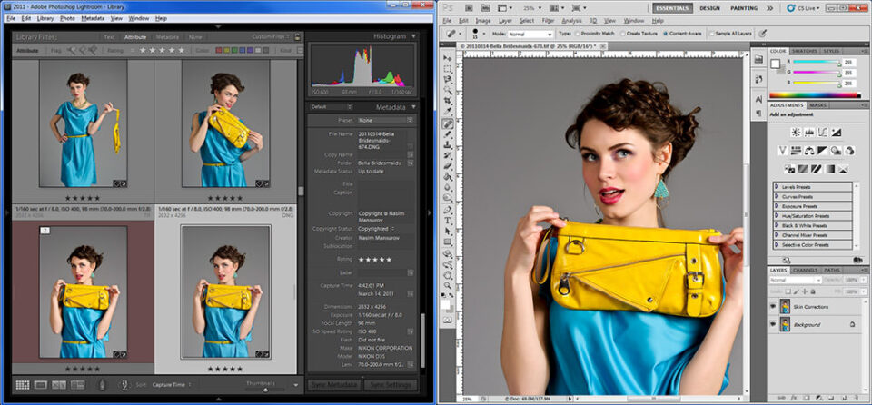 Photoshop Compared to Lightroom