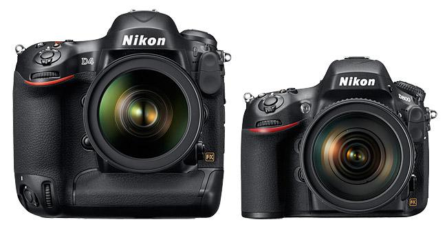 Nikon D4, Nikon D800