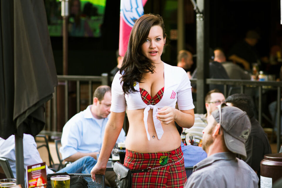 Waitress Looking
