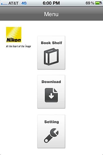 Nikon App Homepage