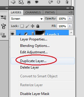 9. Duplicate layer