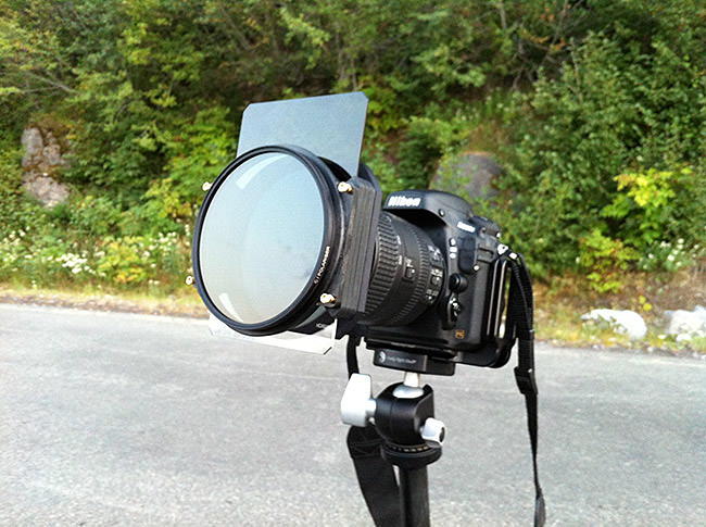 Both the gnd filter and the cpl mounted on the hitech filter holder