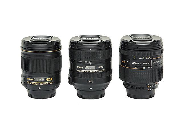 Nikon 28mm vs Nikon 24-85mm VR vs Nikon 24-85mm f/2.8D