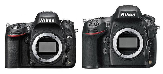Nikon D600 vs D800
