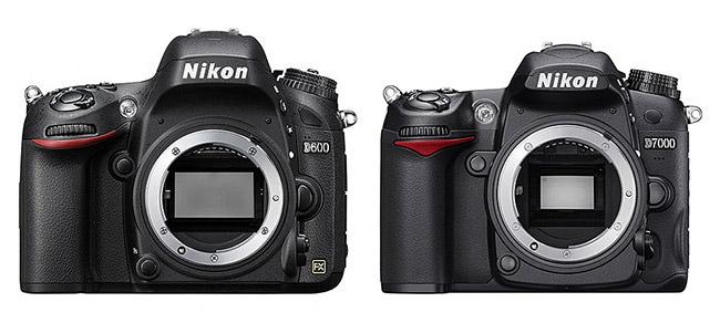 Nikon D600 vs D7000