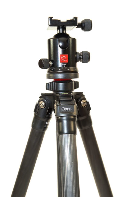 Oben CT-2320 3-Section Carbon Fiber Tripod-with BB2 Ball Head Kit