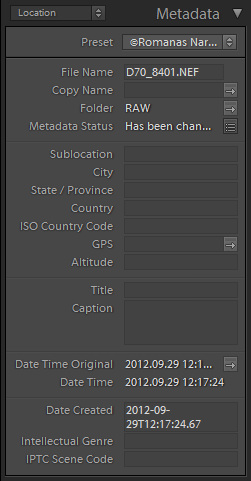 Location Metadata in Lightroom 4