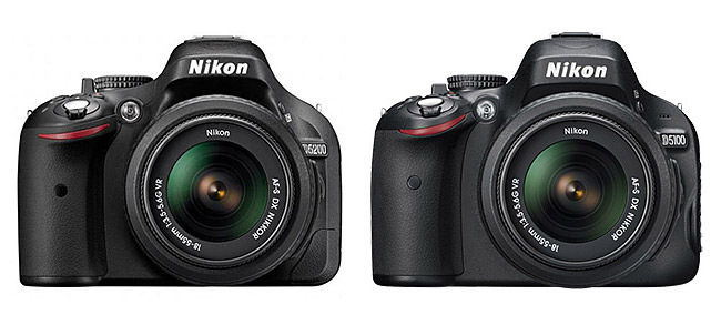 Nikon D5200 vs D5100 Specification Comparison