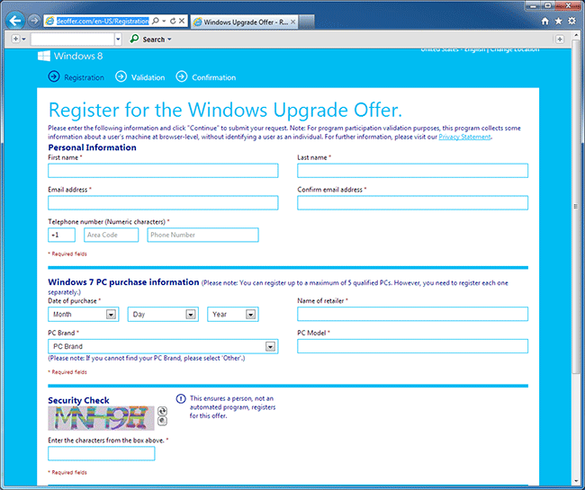 Microsoft Upgrade Offer