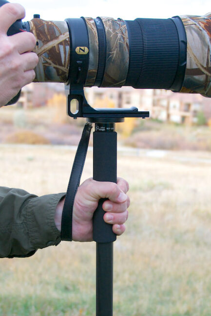monopod with wrist strap