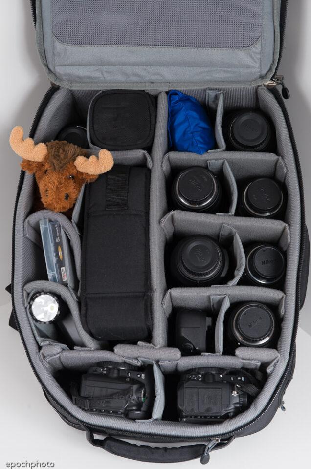 Airport Accelerator Backpack full of gear
