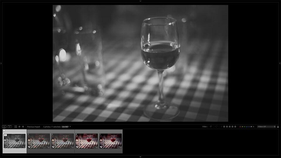 Lightroom Virtual Copies in Filmstrip