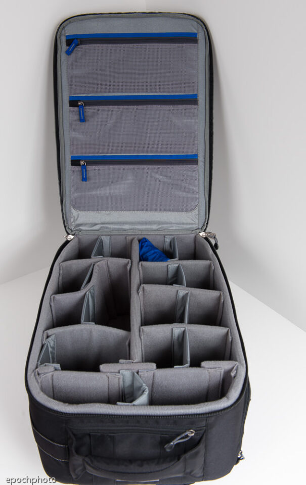 Airport Accelerator Backpack main compartment area open