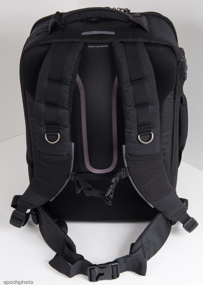 Airport Accelerator Backpack shoulder and waist straps