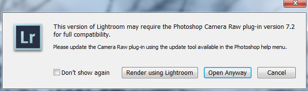 Adobe Camera RAW Update