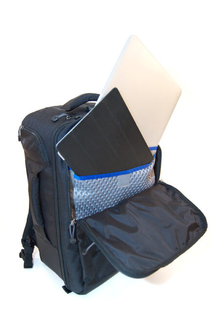 Airport Commuter Backpack Full view Laptop and Tablet compartments