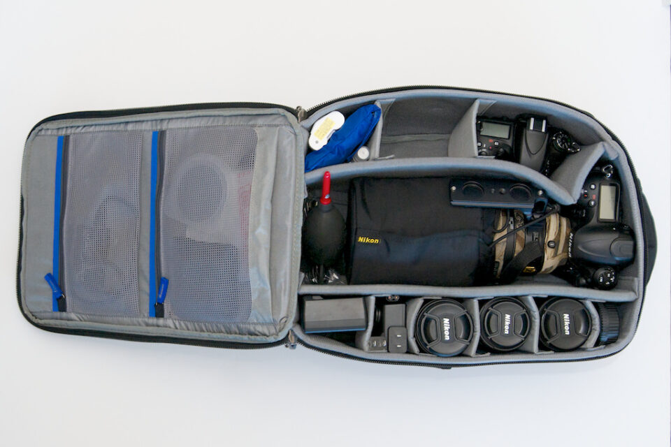 Packed Airport Commuter Bag with D4 and 300