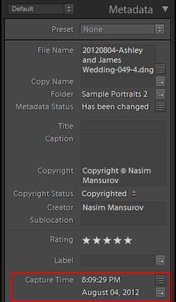 Metadata copyright example