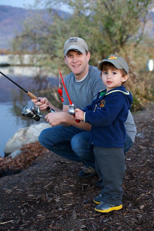 The boys fishing