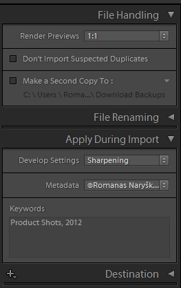 Adobe Photoshop Lightroom Import Settings_2