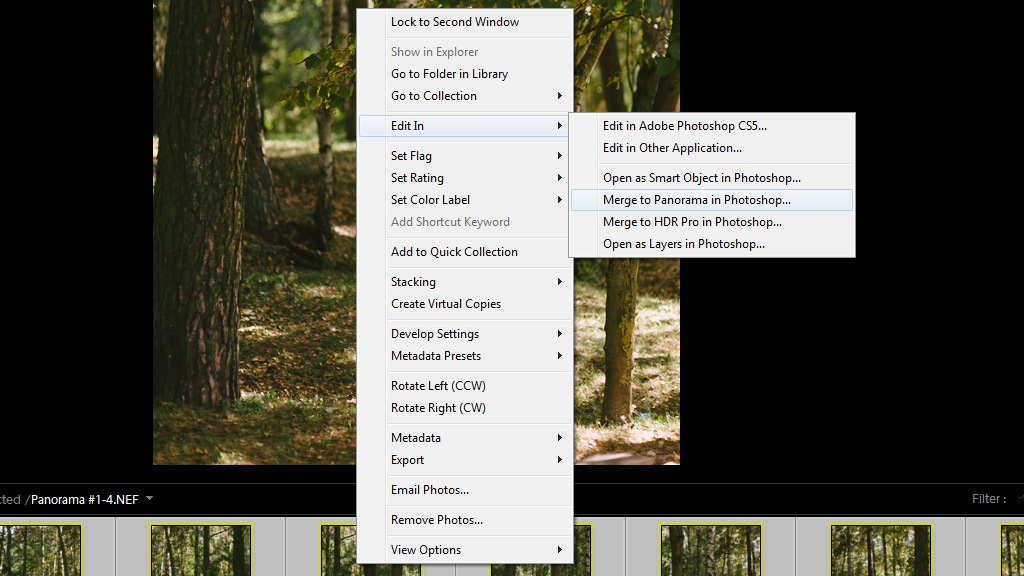 how to create panorama in photoshop