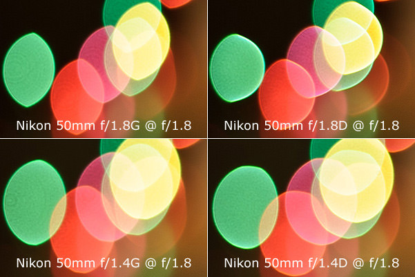 Bokeh Comparison on 50mm Lenses