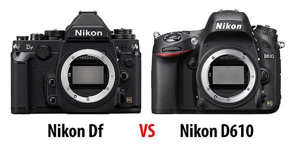 Nikon Df vs D610