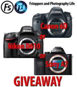 Nikon D610 / Canon 6D / Sony A7 Giveaway