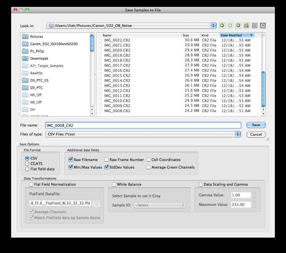 RawDigger Screenshot 4