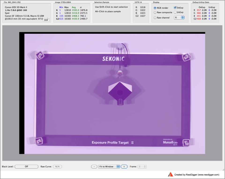RawDigger Screenshot 7