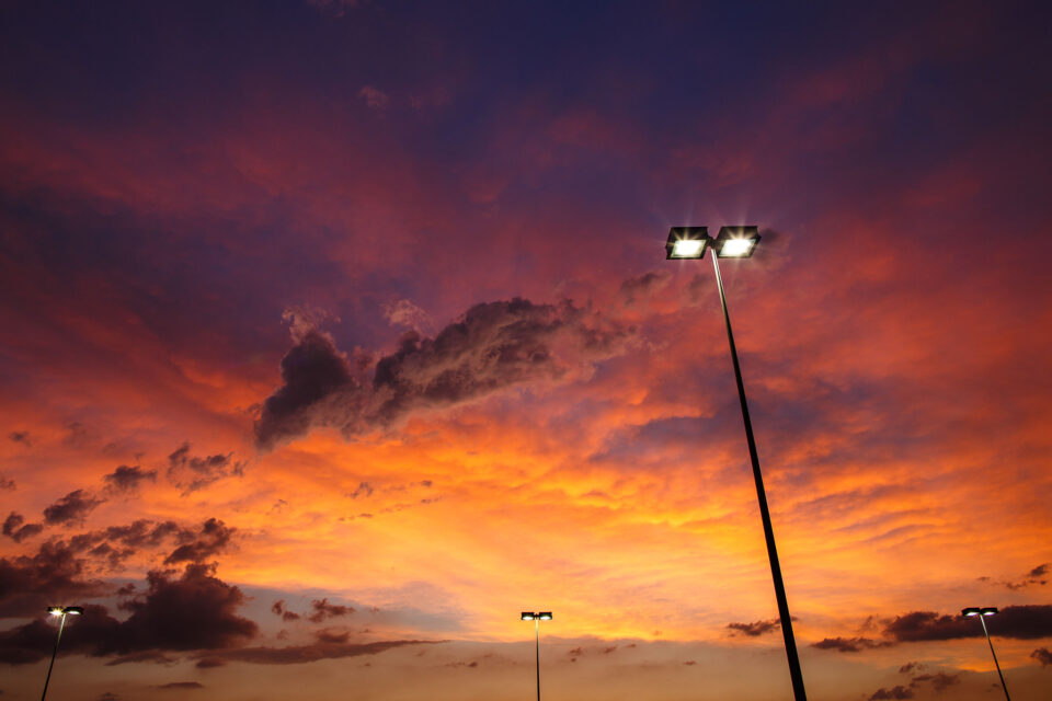 Street Lamps at Sunset