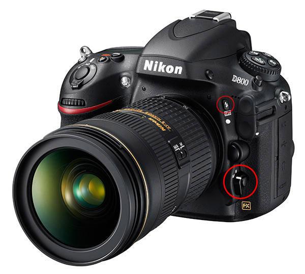 Nikon D800 Left
