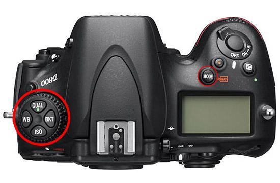 Nikon D800 Top