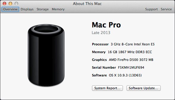 About This Mac - Mac Pro