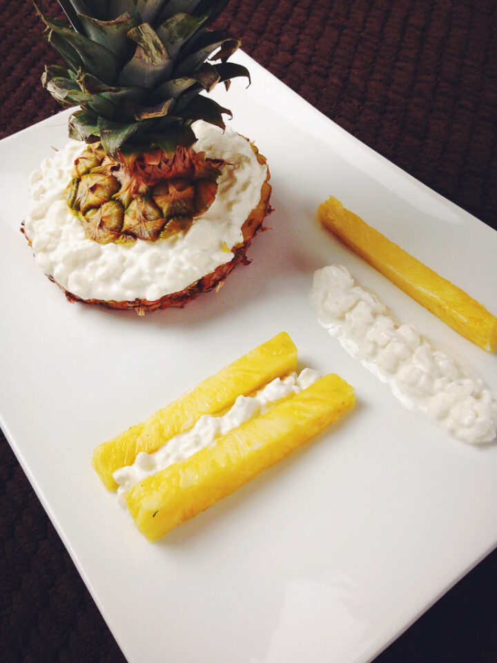 Pineapple and Cottage Cheese