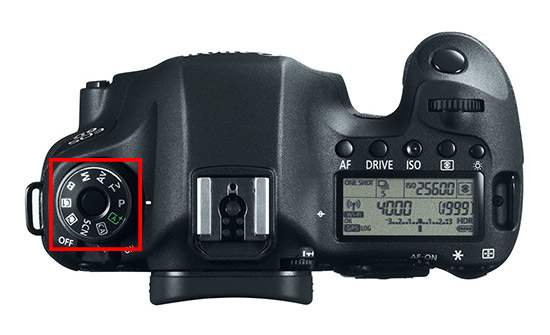Canon 6D Shooting Modes Dial
