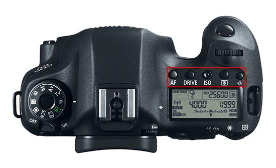 Canon 6D Top Controls